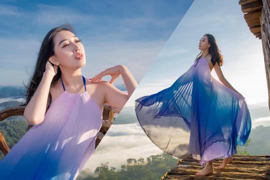 Hoa hậu Huỳnh Thúy Anh hóa nàng thơ giữa mây trời Đà Lạt