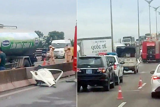 Tai nạn liên hoàn trên cầu Cần Thơ, 1 người tử vong