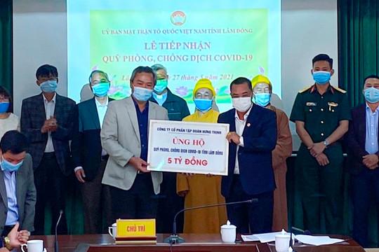 Tập đoàn Hưng Thịnh tặng 50.000 liều vắc-xin phòng, chống Covid-19 cho tỉnh Bình Định