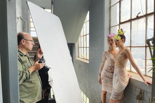 Hoa hậu Khánh Vân chụp ảnh cùng nhiếp ảnh gia nổi tiếng Fadil Berisha tại Mỹ