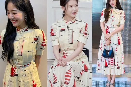 Jihyo (TWICE), Lee Ji Ah và IU cuộc chiến nhan sắc với siêu phẩm của Gucci