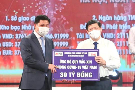 Ngân hàng TMCP Hàng Hải Việt Nam (MSB) và TNG Holdings Vietnam ủng hộ gần 50 tỷ cho hoạt động phòng chống dịch Covid-19