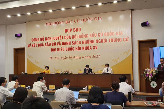 Công bố kết quả bầu cử và danh sách 499 người trúng cử Đại biểu Quốc hội khóa XV