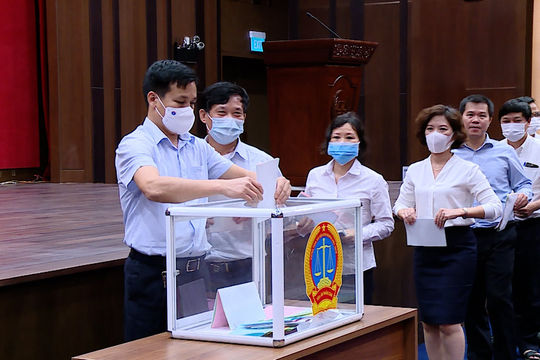 Hội nghị cán bộ chủ chốt thực hiện quy trình công tác cán bộ