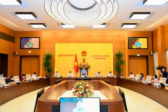 Phiên họp thứ 57 UBTVQH:  Cho ý kiến về việc kiện toàn thành viên Hội đồng Thẩm phán TANDTC