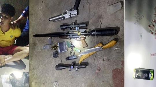 """Phát hiện nhiều vũ khí """"nóng"""" tại nhà trùm ma tuý"""