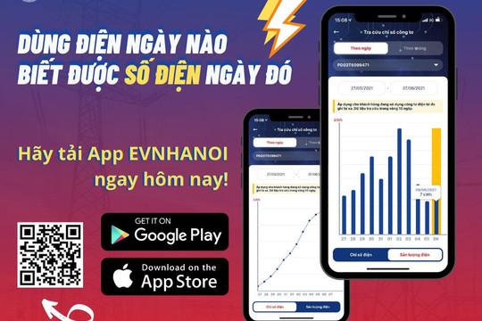 Chủ động theo dõi hóa đơn tiền điện trên App EVNHANOI