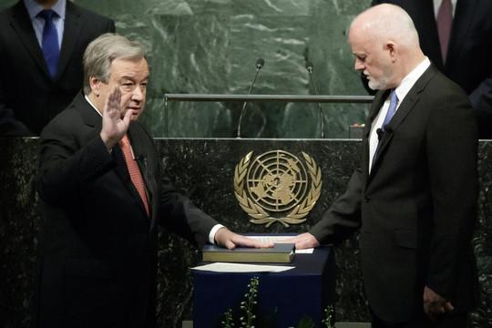 Tổng Thư ký LHQ Guterres tuyên thệ nhậm chức nhiệm kỳ 2