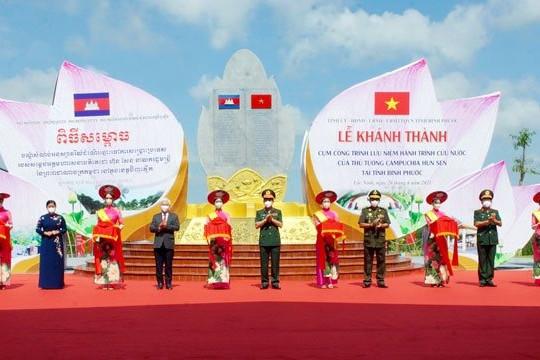 Khánh thành Khu lưu niệm hành trình cứu nước của Thủ tướng Hun Sen tại Bình Phước