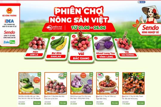 Phiên chợ nông sản trực tuyến người nông dân tự được giới thiệu sản phẩm của mình