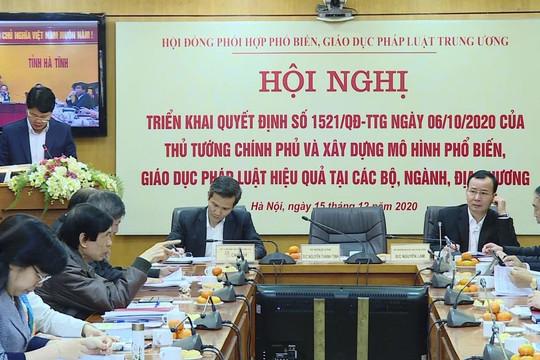 Phó Thủ tướng Chính phủ làm Chủ tịch Hội đồng phối hợp PBGDPL Trung ương