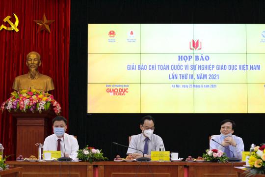 """Họp báo giới thiệu Giải báo chí toàn quốc """"Vì sự nghiệp giáo dục Việt Nam"""" năm 2021"""