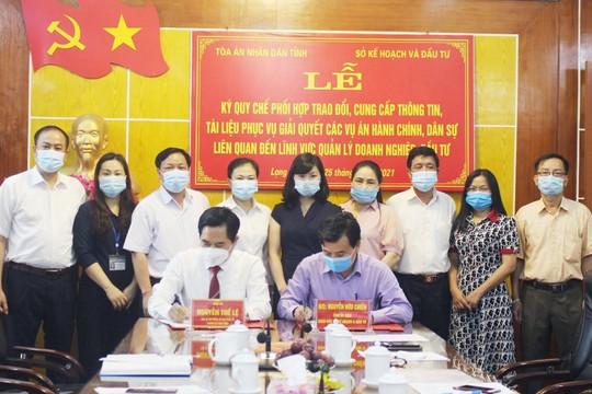 TAND tỉnh Lạng Sơn và Sở Kế hoạch và Đầu tư ký Quy chế phối hợp
