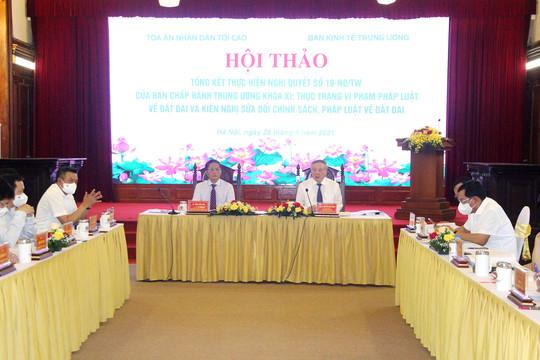 """Hội thảo """"Tổng kết thực hiện Nghị quyết số 19-NQ/TW của Ban chấp hành Trung ương khóa XI"""""""