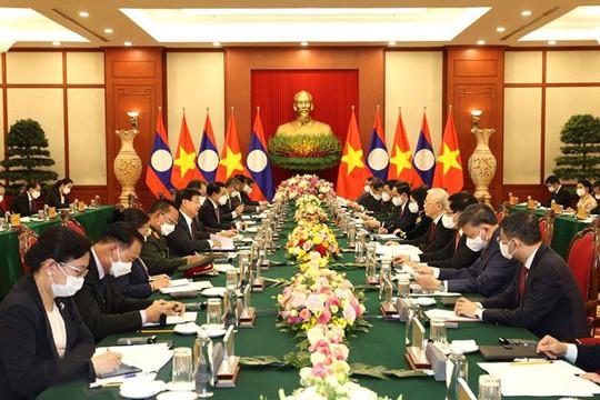 Hội đàm Tổng Bí thư 2 nước Việt Nam-Lào: Ký kết 7 văn kiện hợp tác