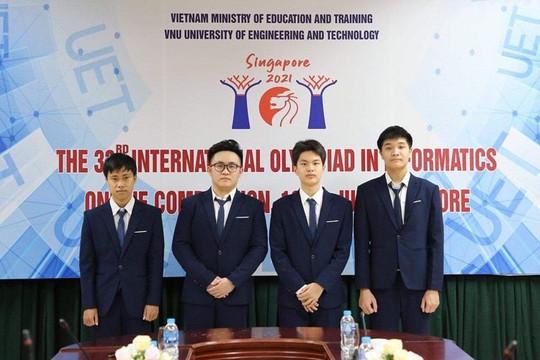 Việt Nam giành 4 huy chương tại Olympic Tin học quốc tế năm 2021