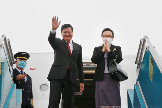 Tổng Bí thư, Chủ tịch Lào kết thúc tốt đẹp chuyến thăm chính thức Việt Nam