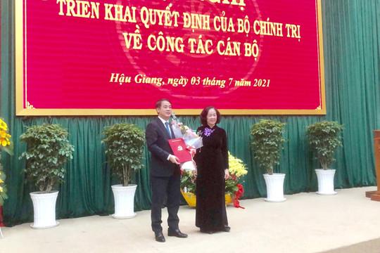 Bộ Chính trị điều động Chủ tịch Vietcombank làm Bí thư Tỉnh ủy Hậu Giang