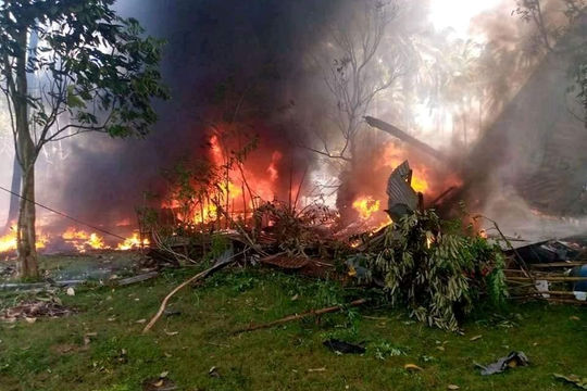 Rơi máy bay quân sự Philippines: Ít nhất 45 người thiệt mạng, không phải do tấn công