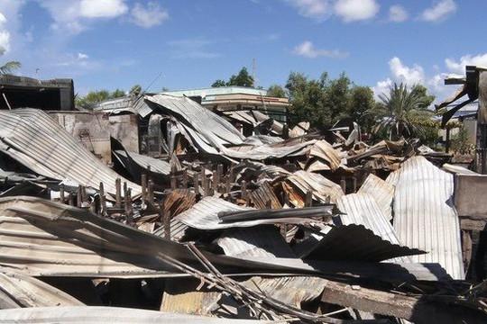 Nhậu sau tự đốt nhà mình, cháy lan 4 nhà hàng xóm