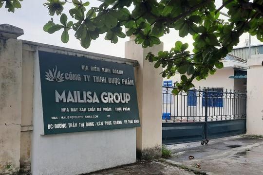 Thái Bình: Dược phẩm Mailisa Group phải tạm dừng sản xuất mỹ phẩm
