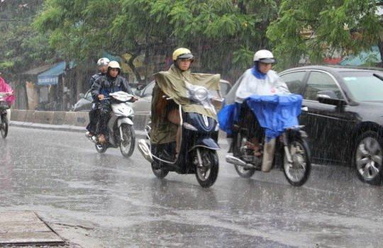 Thời tiết hôm nay: Nền nhiệt giảm mạnh, Bắc Bộ có mưa dông