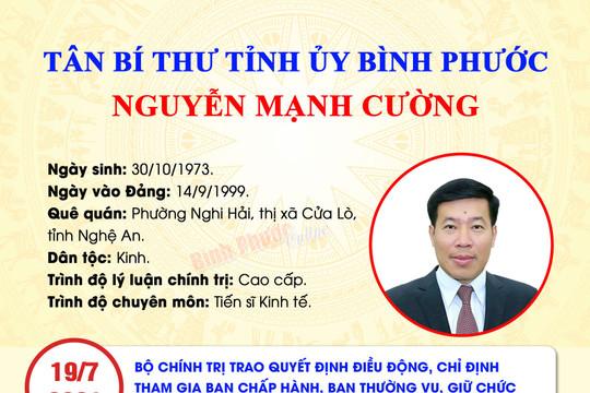 Bộ Chính trị chỉ định tân Bí thư Tỉnh ủy Bình Phước