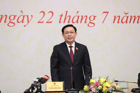 Chủ tịch Quốc hội Vương Đình Huệ: 70 triệu cử tri và gần 100 triệu đồng bào đặt niềm tin vào Quốc hội
