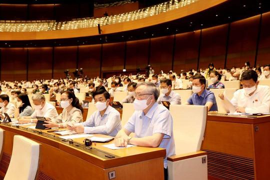 100% đại biểu Quốc hội tán thành Chính phủ khóa XV có 22 bộ, ngành