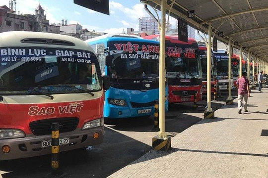Ninh Bình dừng xe khách đi Hà Nội và cấm đón, trả khách qua địa bàn