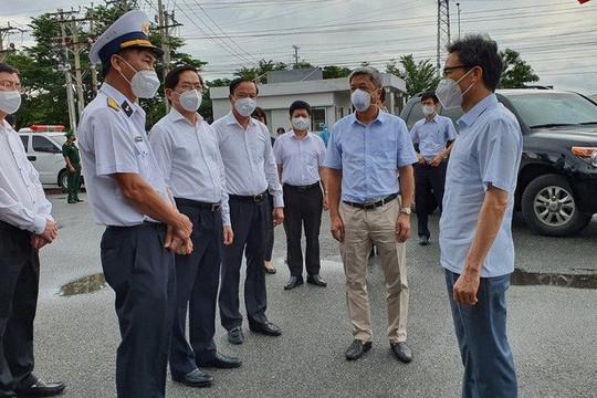 Phó Thủ tướng Vũ Đức Đam kiểm tra công tác phòng, chống dịch Covid-19 tại tỉnh Bà Rịa - Vũng Tàu