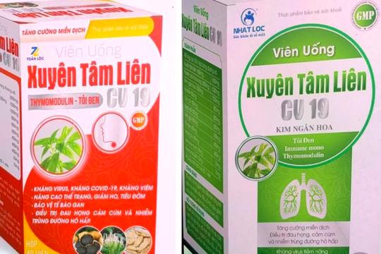 Bộ Y tế cảnh báo 2 thực phẩm bảo vệ sức khỏe Xuyên Tâm Liên giả mạo