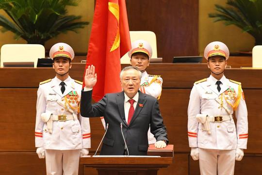 Video Chánh án TANDTC Nguyễn Hòa Bình tuyên thệ và phát biểu nhậm chức