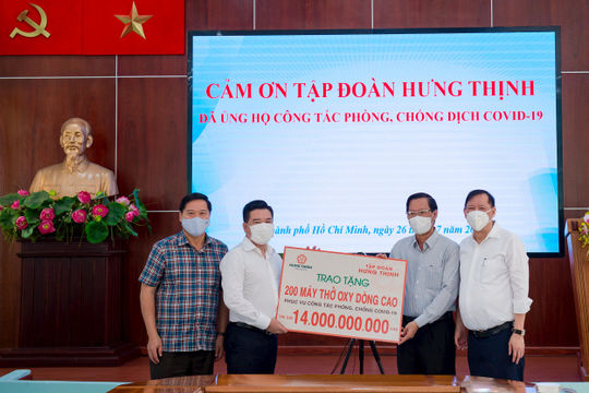 Tập đoàn Hưng Thịnh hỗ trợ khẩn hàng chục tỷ đồng cho TP Hồ Chí Minh phòng, chống dịch Covid-19