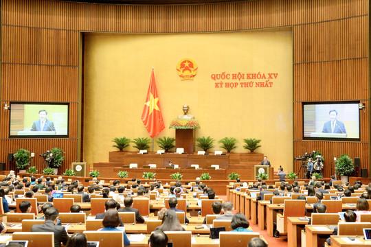 Thông qua Nghị quyết Chương trình Kỳ họp thứ nhất, Quốc hội khóa XV