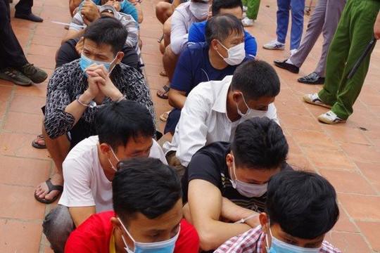Bắc Giang: Bắt quả tang 34 đối tượng đang sát phạt nhau bằng hình thức đá gà