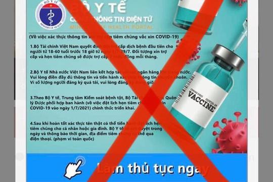 Cảnh báo mạo danh Bộ Y tế nhắn tin lừa trợ cấp Covid-19
