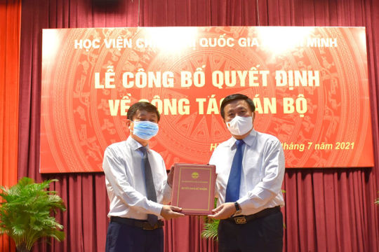 Bổ nhiệm PGS.TS Phạm Minh Sơn làm Giám đốc Học viện Báo chí và Tuyên truyền