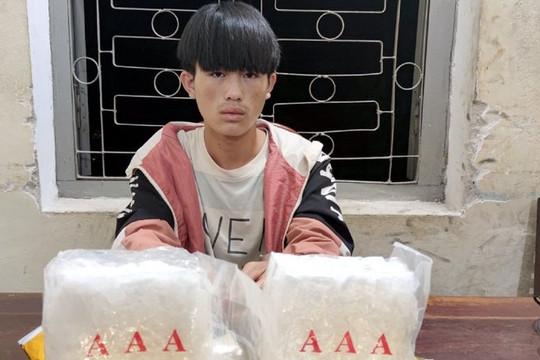 Điện Biên: Bắt đối tượng vận chuyển 2 kg ma túy đá
