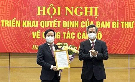 Ban Bí thư chỉ định tân Bí thư Đảng đoàn VCCI