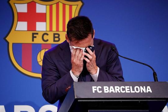 Bài phát biểu của Messi trong buổi họp báo chia tay Barca