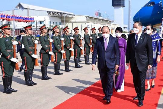 Chủ tịch nước Nguyễn Xuân Phúc bắt đầu thăm hữu nghị chính thức Lào