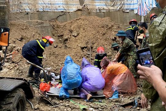 TP Hạ Long: Sạt lở đất đá vùi lấp 4 người thương vong