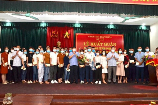 Thanh Hóa: 122 bác sỹ, nhân viên y tế lên đường chi viện các tỉnh phía Nam
