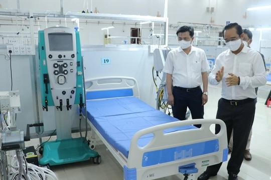 Long An đưa vào hoạt động Trung tâm Hồi sức tích cực điều trị Covid-19