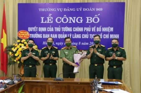 Ban Quản lý Lăng Chủ tịch Hồ Chí Minh có tân Phó Trưởng ban