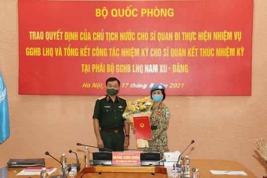 Chủ tịch nước quyết định cử nữ Trung tá làm nhiệm vụ Gìn giữ hòa bình Liên Hợp Quốc