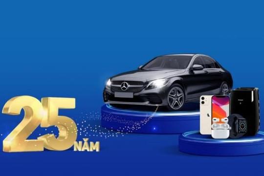 Mở thẻ tín dụng tại nhà, nhận cơ hội sở hữu xe Mercedes