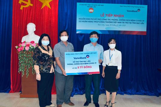 VietinBank hỗ trợ tỉnh Bạc Liêu 5 tỷ đồng phòng, chống dịch COVID-19
