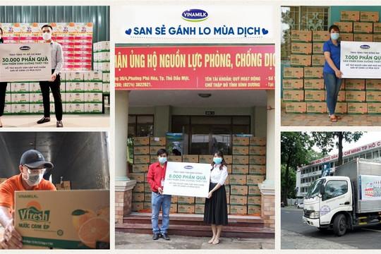 Vinamilk tặng 45.000 phần quà cho người dân gặp khó khăn tại TP.HCM, Bình Dương, Đồng Nai